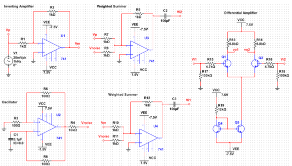 fulldifferentialamplifiercircuit